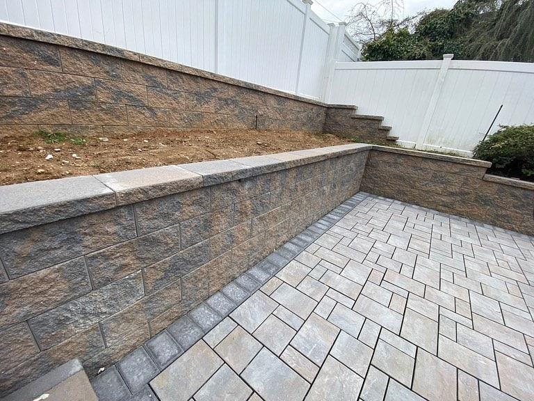 geogrid retaining wall ageless masonry in long island new york